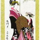 Japanese Noren Ukiyoe SHIZUKA Curtain Sheets Tapestry, Partition 85 x 150cm BIG!