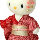 Maiko Kitty Silk Kimono Doll Figures, Plush Stuffed Animals  from Japan NEW