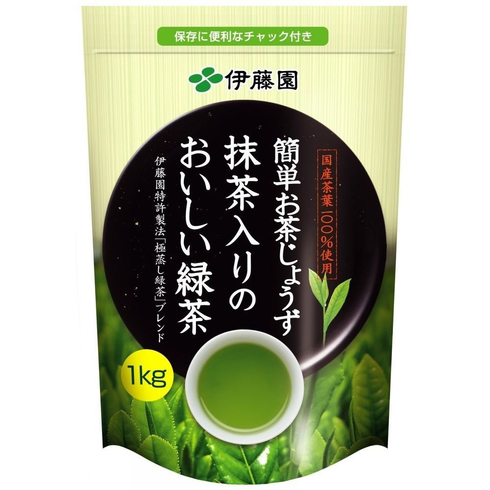 ITOEN Blend Tee ( Green & Macha tea )1000g,35oz, 2.2Ib Sushi Big,large Bag Japan