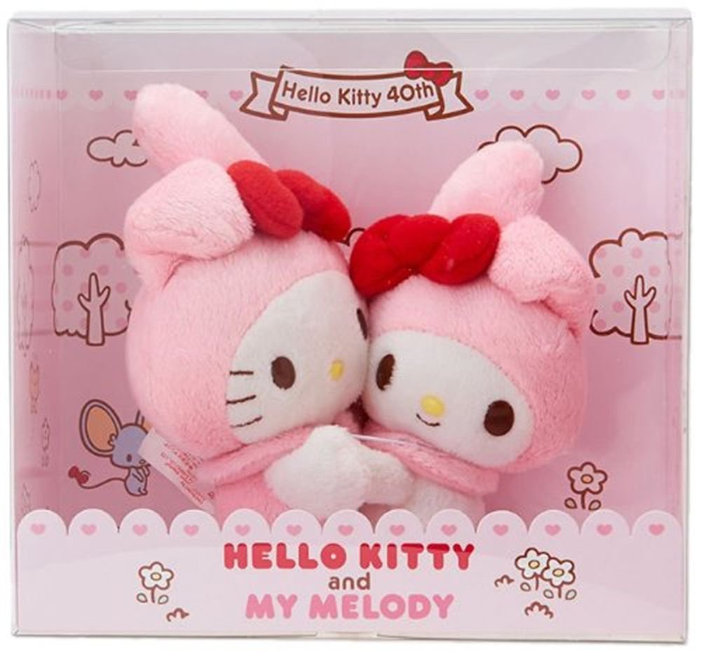 Hello Kitty & My Melody Plush Doll 40th Anniversary from SANRIO Japan NEW