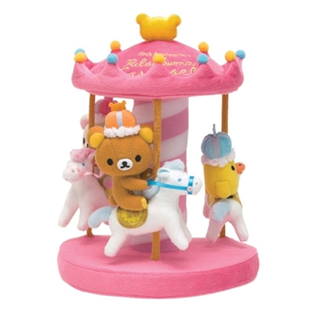 10th Anniversary of Rilakkuma Korilakkuma & Kiiroitori Merry-Go-Round Plash NEW