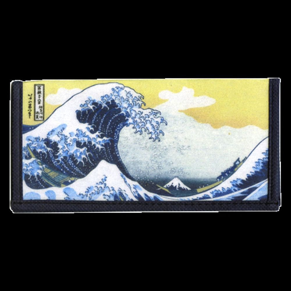 Hokusai Simple Purse Wallet Great Wave Off Kanagawa Ukiyoe Japan NEW
