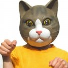 Rubber Brown Cat Mask Ivent , Halloween ,  Party , Costume Play NEW