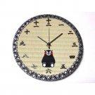Wall Clock of Tatami Kumamon Bear Embroidered 2010 Kumamoto Japan for Christmas