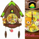 NEW Rilakkuma Small Log House Brown Wall Clock  from Japan NEW
