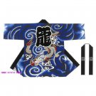 High durable long big HAPPI coat Dragon Japanese kimono yukata 2013:length 100cm