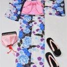 JapaneseYukata 4 Piece Set L 2L Large Big Tall Women Maiko KimonoDress NEW F/S