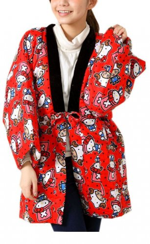 Character Hanten , Japanese Short Coat Kitty x Chopper(One piece) Room Wear NEW