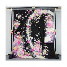 """Rainbow of Flowers"" Kyoto Yuzen Silk Furisode Kimono Set Regular M Size NEW"