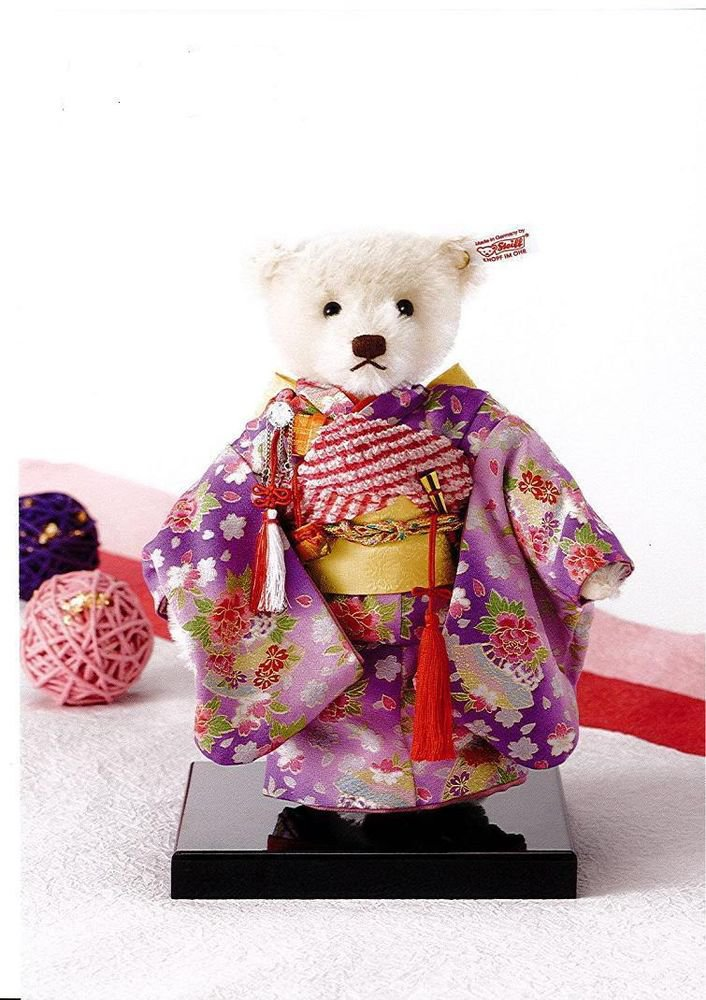 Steiff Teddy Bear ICHIMATSU doll Japan-limited-article for 2012 years, Kyoto NEW