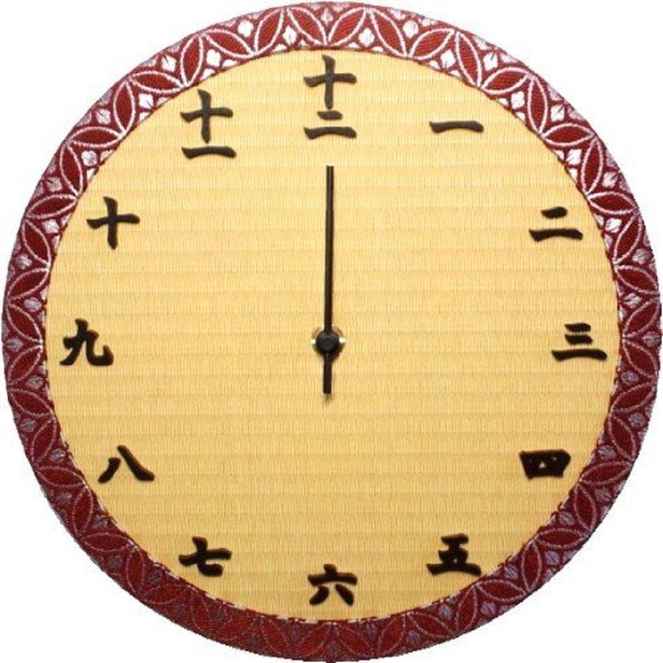 Traditional Japanese Wall Clock  TATAMI Clock Brown from Japan Free Shipping NEW