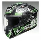 NEW SHOEI X-TWELVE X-12 YANAGAWA 2 Helmet  GREEN BLACK S,M,L,XL