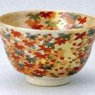KUTANI YAKI Porcelain Bowl Chawan Kinpaku Kouyou Green Tea Cup Japan NEW