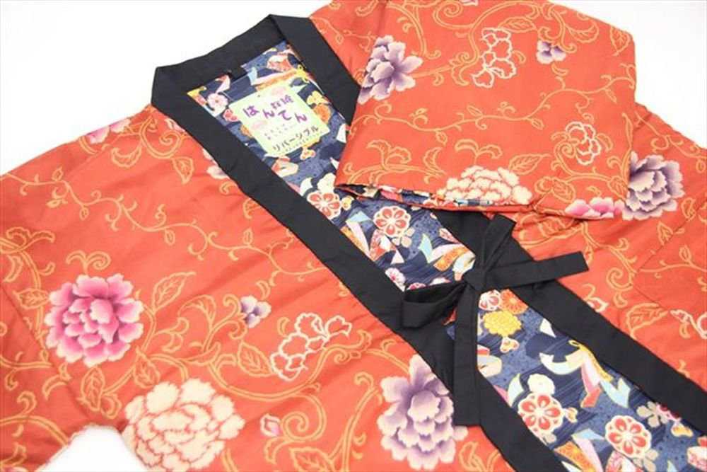 Japanese Hanten, Short Coat of Kimono Pattern Room Wear Kyoto New
