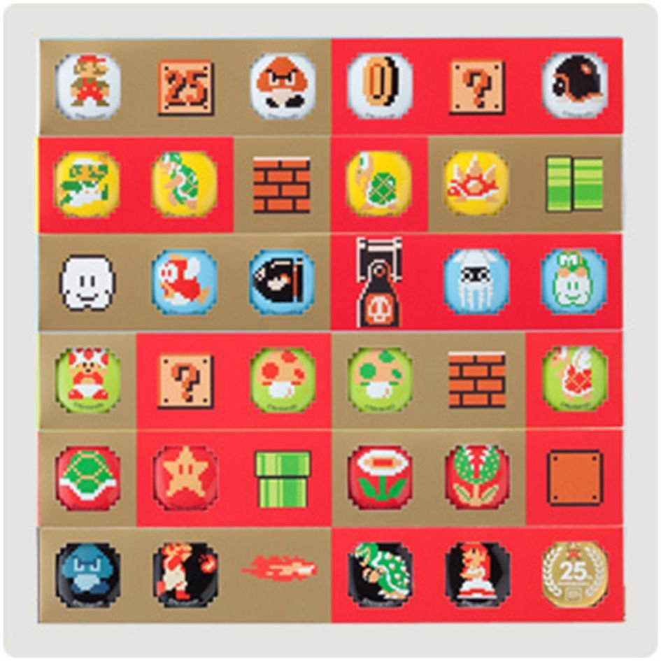 Club Nintendo Super Mario 25th Anniversary Pins Collection Limited Edition NEW