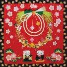 Beckoning Cat ,Furoshiki Tapestry ,Hanging Wall picture Kakejiku Kyoto NEW
