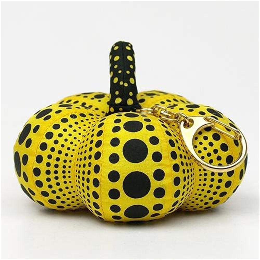 Yayoi Kusama Yellow Pumpkin Mascot Dots key Chain ,Key Ring from Japan NEW