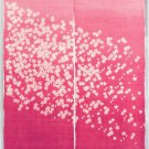 """Hemp NOREN"""" Flow Sakura Pink """" Japanese Traditional Curtain, Doorway,Partition"""