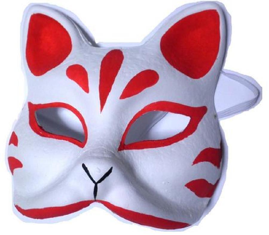 Omen ,Mask of  Fox for Ivent Kosupure,Costume Handmade REDJapan FreeShipping!