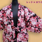 Hanten,Short coat, Room wear Kimono Rose pattern from Japan NEW