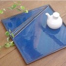 Mino ware Japanese Tableware Square Plate Partition Sushi Dish INDIGO BlUE