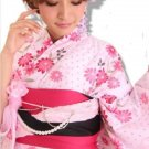 Pink Yukata Set Kimono Dress Maiko Regular M from Girl's JAPAN NEW