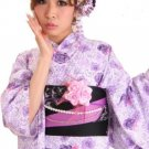 Kyoto Yukata 7 Item Set Kimono Dress for Maiko Regular M from Girl's JAPAN NEW