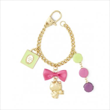 LADUREE Paris x Hello Kitty Bag Charm Carbine Key-chain NEW JAPAN free Shipping