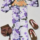 Yukata 4 Piece Set L 2L Large Big Tallsize Women Maiko KimonoDress Japan NEW F/S