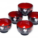 Hello Kitty Japanese Bowl Set Owan ,for Soup Misoshiru Cup NEW