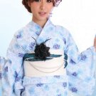 Light blue Yukata Set Kimono Dress Maiko Regular M from Girl's JAPAN NEW