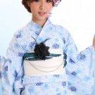 Light blue Yukata Set Kimono Dress Maiko Regular M from Girl's JAPAN NEW