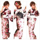 Geisha Maiko Yukata Set Flower Kimono Dress Cotton M from Girl's JAPAN NEW