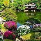 Cherry Blossom Kyoto High SILK Furisode Kimono Set Blue M dress yukata JapanNEW