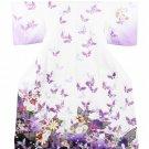 Purple x Butterfly High Class Furisode Yukata Set Kimono M Robe Women`s NEW F/S