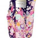 Maiko Kyoto Yuzen Pure Silk Furisode-Kimono dress Purple Lobe Small NEWJapan F/S