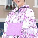 Yukata Set purple Cherry Blossoms Flower Kimono Dress Maiko Regular M NEW F/S