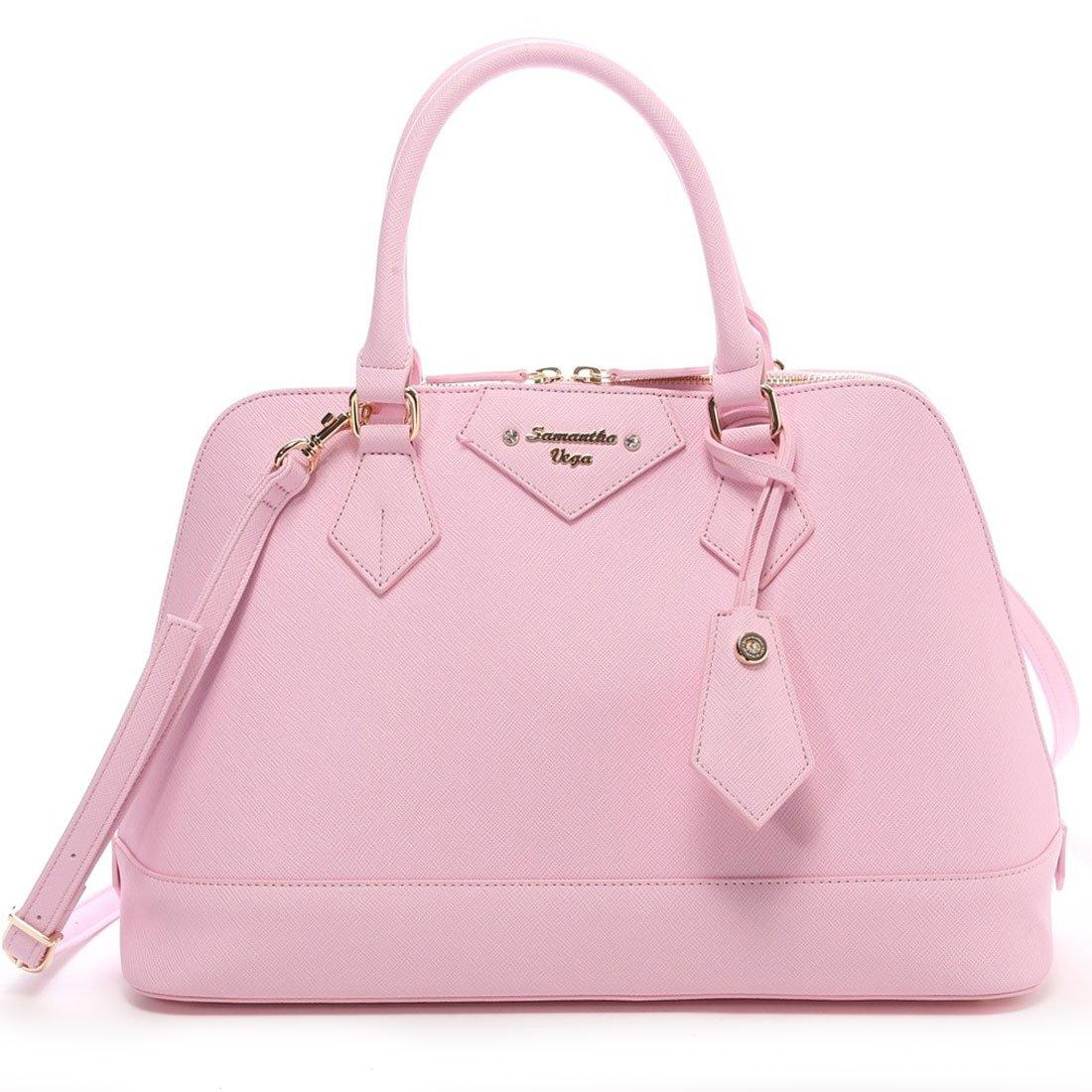 Samantha Vega Lady Azel Hand bag,Shoulder Baby pink Large B5 Thavasa Japan NEW