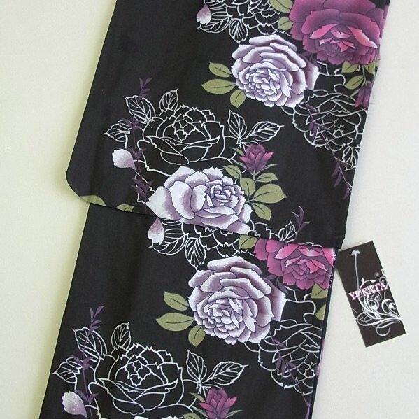 Summer Rose Flower Yukata Set Kimono Dress Maiko Regular M Girl's JAPAN NEW