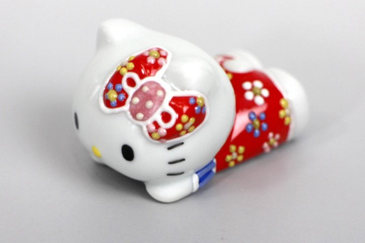 Hello Kitty Kutani ware Chopsticks holder,Chopstick rest for Gift Japan NEW F/S