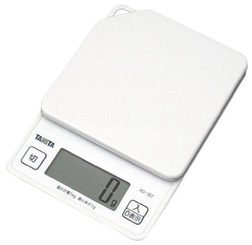 New TANITA digital cooking scale white KD187-WH Japan