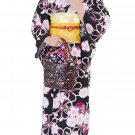 Yukata Set pink Cherry Blossoms Flower Kimono Dress Maiko Regular M NEW F/S