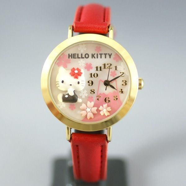 Hello Kitty Deco Wristwatch Sakura � Fuji Japan Original,limited  NEW F/S