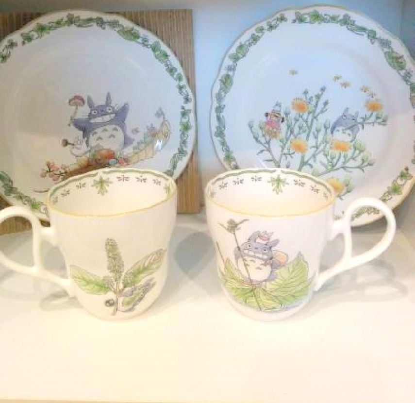 Noritake x My Neighbor Totoro Morning Pair Set Unboxed Cups,Dish,Plates NEW F/S