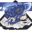 HAPPI Blue Dragon Japanese Festival Coat Hanten Yukata Kimono Room wear NEWlarge