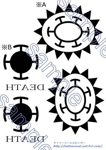 One Piece Trafalgar Law Cosplay Tattoo Seal Stickers Arts from Japan 3a NEW F/S