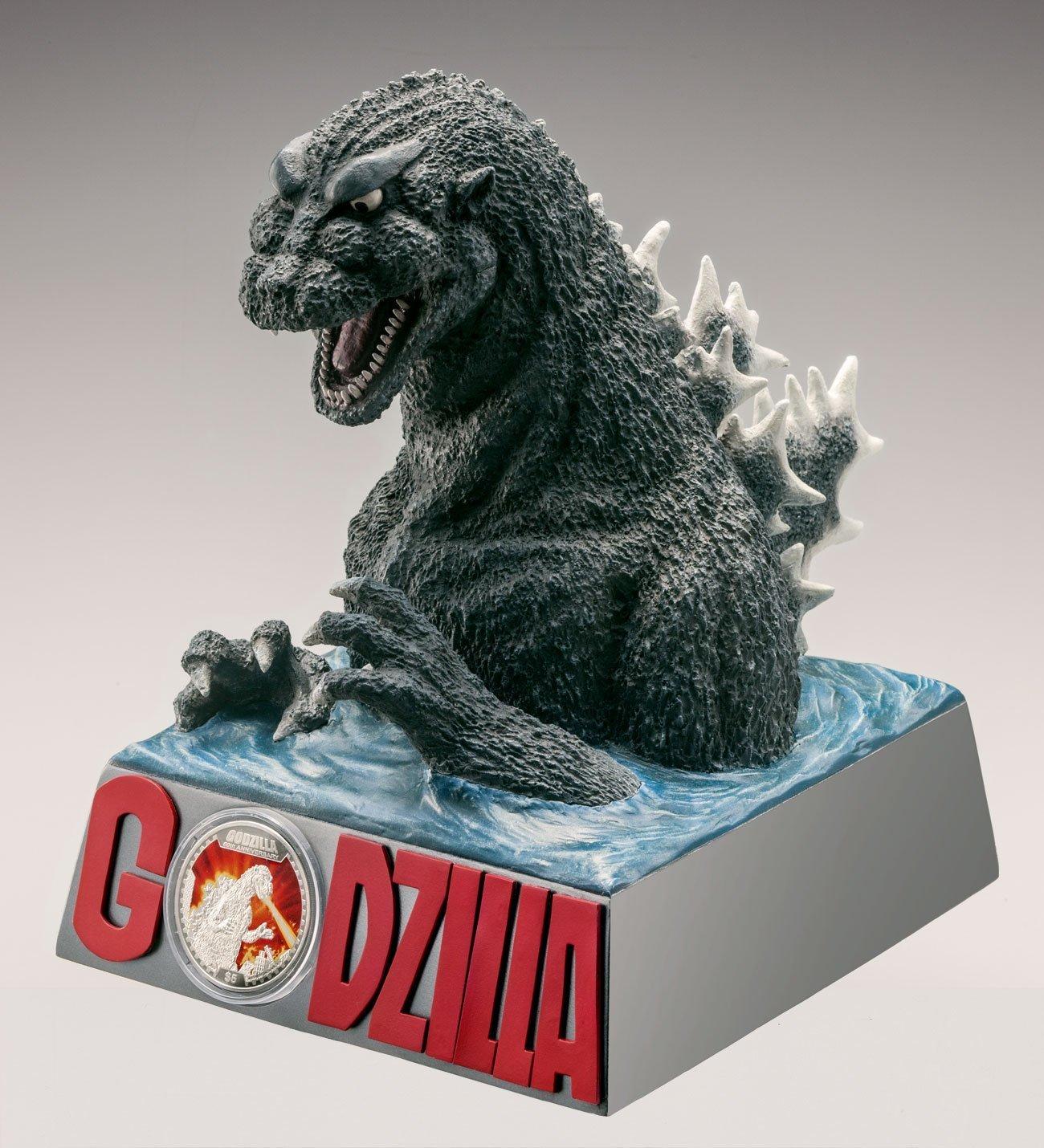 Godzilla Birth 60th Anniversary Silver Coin Proof Deluxe Figure Special Set NEW