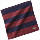 NWT LACOSTE Mini Hand Towel Stripe Burgundy Navy Blue Licenced Authentic NEW