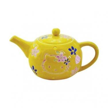 Hello kitty Arita-yaki Teapot & Tea cup set Kyusu, Yunomi Kettle Japan NEW F/S