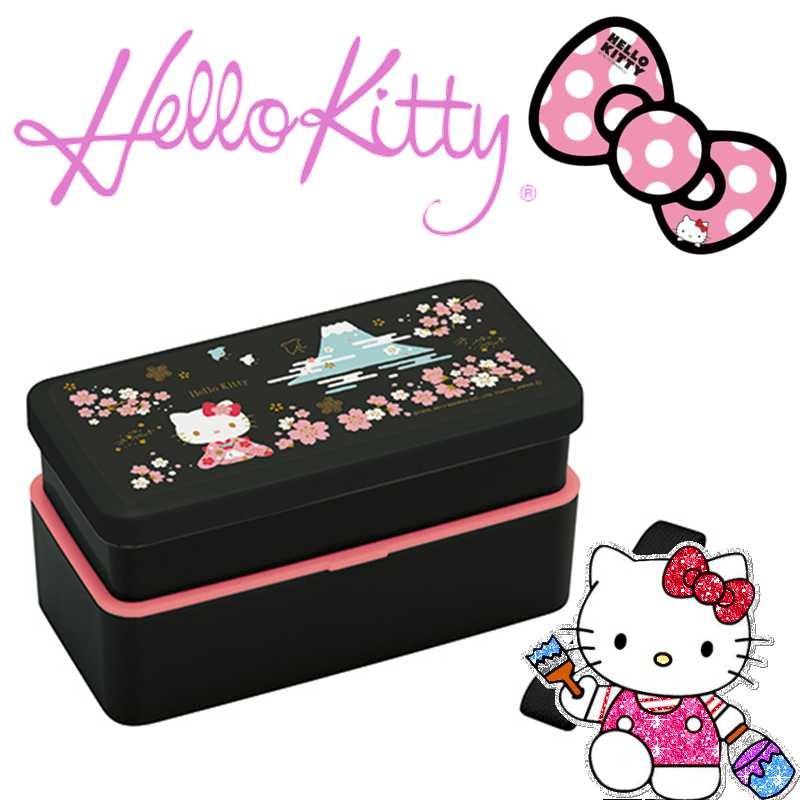 Hello Kitty Sakura Fuji Sanrio 2 stage lunchbox Bentoubako Japan Limited NEW F/S